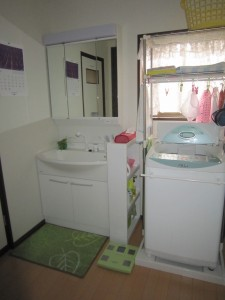 洗面室もリフォーム!